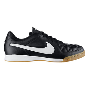 Nike Youth Tiempo Genio Indoor Soccer Shoes (Black/White)