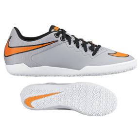 Nike  HyperVenomX Pro Indoor Soccer Shoes (Wolf Grey/Orange)