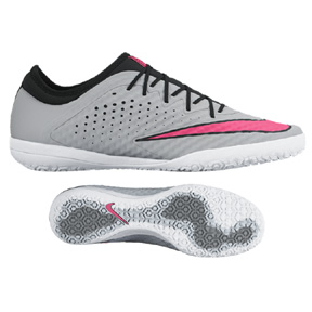 Nike MercurialX Finale Indoor Soccer Shoes (Wolf Grey/Pink)