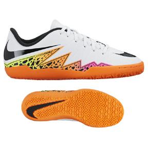 Nike Youth HyperVenom Phelon II Indoor Soccer Shoes (White/Multi)