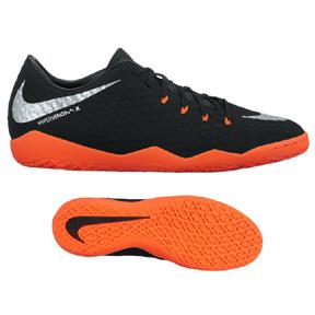 Nike  HyperVenomX Phelon III Indoor Soccer Shoes (Black/Silver)