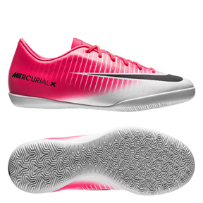 Nike Youth  MercurialX Victory VI Indoor Soccer Shoes (Racer Pink)