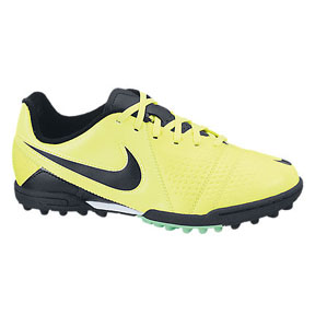 Nike Youth CTR360 Libretto III Turf Soccer Shoes (Volt/Black)