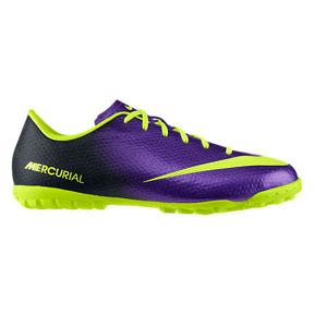 Nike Youth Mercurial Victory IV Turf Soccer Shoes (Purple)