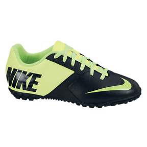 Nike Youth FC247 Bomba II Turf Soccer Shoes (Black/Electric)
