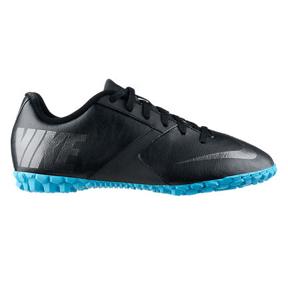Nike Youth FC247 Bomba II Turf Soccer Shoes (Black/Blue)