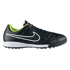Nike Tiempo Genio Turf Soccer Shoes (Black/Volt/White)