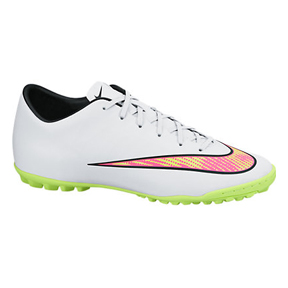 Nike Mercurial Victory  V Turf Soccer Shoes (White Pack)