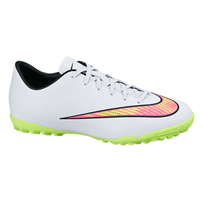 Nike Youth Mercurial Victory V Turf Soccer Shoes (White Pack)