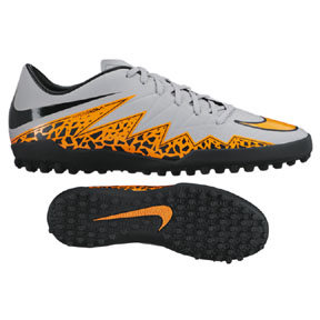 Nike HyperVenom Phelon II Turf Soccer Shoes (Wolf Grey)