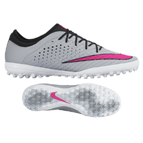 Nike  MercurialX Finale Turf Soccer Shoes (Wolf Grey/Pink)