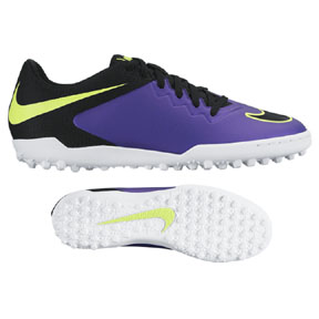 Nike HyperVenomX Pro Turf Soccer Shoes (Hyper Grape)