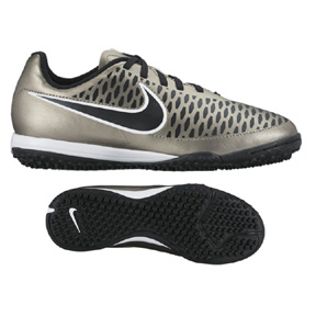 Nike Youth  Magista Onda Turf Soccer Shoes (Metallic Pewter)