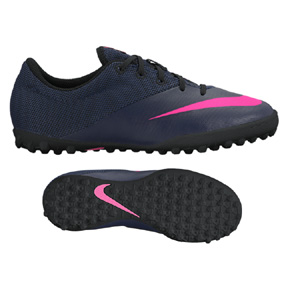 Nike Youth MercurialX Pro Turf Soccer Shoes (Navy/Pink Blast)