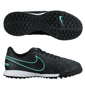 Nike Youth TiempoX Legend VI Turf Soccer Shoes (Black)