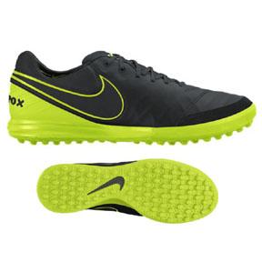 Nike  TiempoX Proximo Turf Soccer Shoes (Black/Volt)