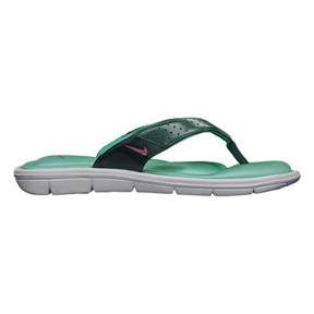 Nike Womens Comfort Thong Soccer Sandal / Slide (Crystal Mint)