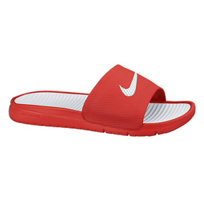 Nike Benassi SolarSoft Soccer Sandal / Slide (Red/White)