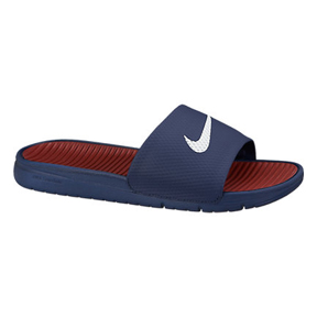 Nike Benassi SolarSoft Soccer Sandal / Slide (Midnight Navy)