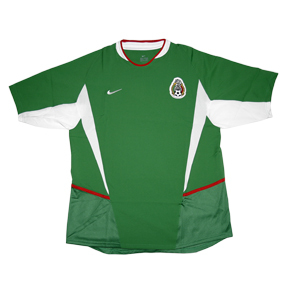 Nike Mexico Soccer Jersey (Home 2002)