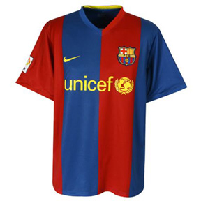 Nike Barcelona Unicef Long Sleeve Jersey (Home 2007)