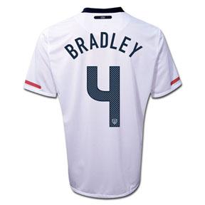 Nike USA Bradley #4 Soccer Jersey (Home 10/11)