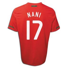 Nike Portugal Nani #17 Soccer Jersey (Home 2010/11)