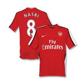 Nike Arsenal Nasri #8 Soccer Jersey (Home 2009/10)