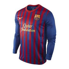 Nike Barcelona Long Sleeve Soccer Jersey (Home 11/12)