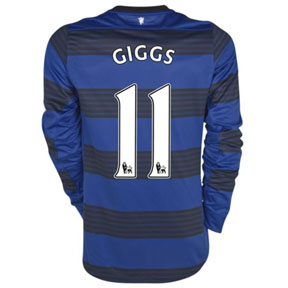 Nike  Manchester United Giggs LS Soccer Jersey (Away 2011/12)