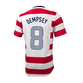 Nike  USA  Dempsey #8 Soccer Jersey (Custom Home 2012/13)
