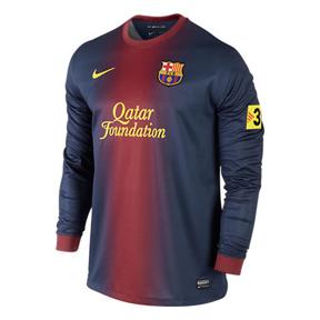 Nike Barcelona Long Sleeve Soccer Jersey (Home 12/13)