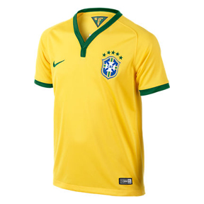 Nike Youth Brasil / Brazil World Cup 2014 Soccer Jersey (Home)