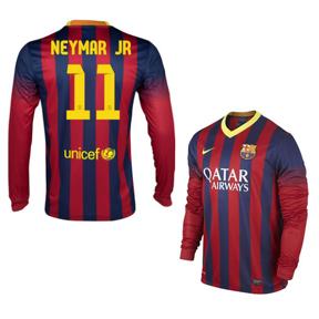 Nike Barcelona Neymar #11 LS Jersey (Home 13/14)