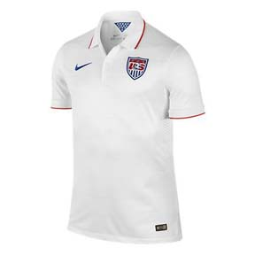 Nike USA Authentic World Cup 2014 Soccer Jersey (Home)