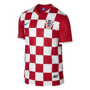 Nike  Croatia  World Cup 2014 Soccer Jersey (Home)