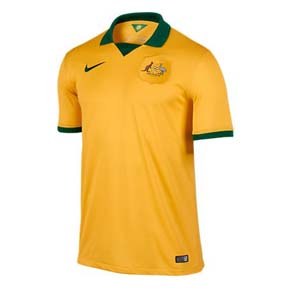 Nike Australia World Cup 2014 Soccer Jersey (Home)