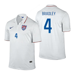Nike USA Bradley #4 Soccer Jersey (Home 2014/16)