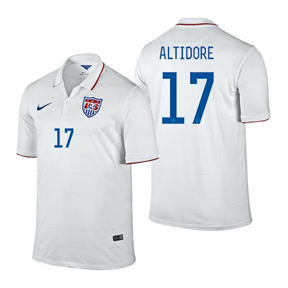 Nike  USA Altidore #17 World Cup 2014 Soccer Jersey (Home)