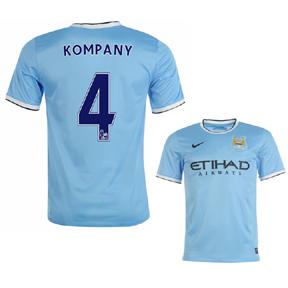 Nike Manchester City Kompany #4 Soccer Jersey (Home 2013/14)