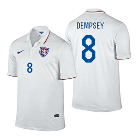 Nike Youth USA Dempsey #8 Soccer Jersey (Home 14/16)