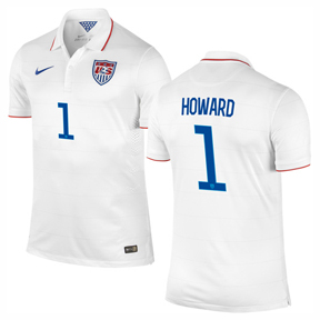 Nike USA Howard #1 Soccer Jersey (Home 2014/16)