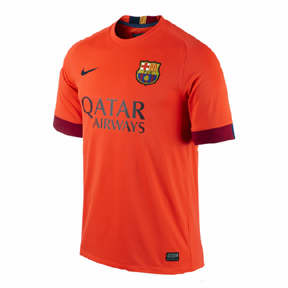 Nike Youth Barcelona Soccer Jersey (Away 14/15)