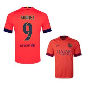 Nike Barcelona Suarez #9 Jersey (Away 14/15)