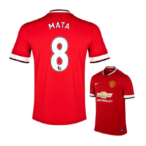 Nike Manchester United Mata #8 Soccer Jersey (Home 14/15)