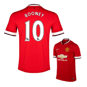 Nike Manchester United Rooney #10 Jersey (Home 14/15)