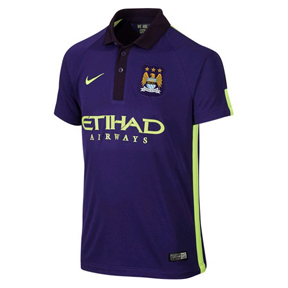 Nike Youth Manchester City Flash Flood Soccer Jersey (2014/15)