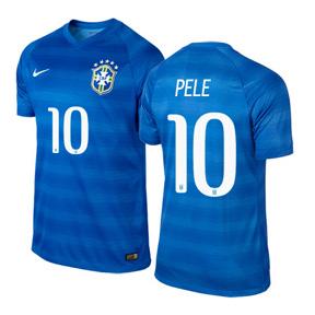 Nike Brasil / Brazil Pele #10 Soccer Jersey (Away 2014/15)