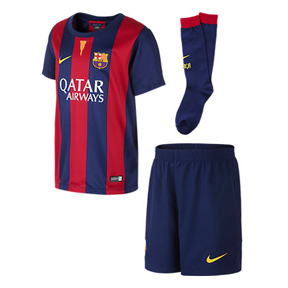Nike Young Boy Barcelona Soccer Jersey Mini Kit (Home 2014/15)