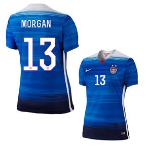Nike Womens  USA Morgan #13 Soccer Jersey (Away 2015/16)